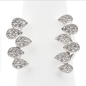 Jewelry - Teardrops Open Ring Sterling Silver